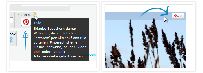 Jimdo integriert Pinterest als Sharing-Option für Fotos